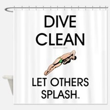 Dive Clean Shower Curtain
