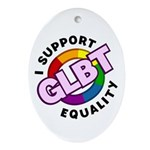 GLBT Equality Oval Ornament