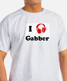 Gabber music Ash Grey T-Shirt