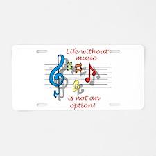 Unique Percussion Aluminum License Plate