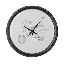 1959 Piaggio Vespa Large Wall Clock