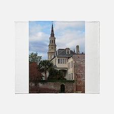 Charleston SC Church Throw Blanket