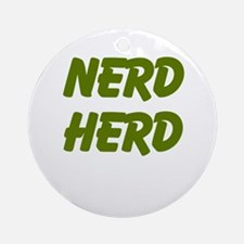 Nerd Herd Ornament (Round)