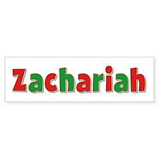 Zachariah Christmas Bumper Bumper Sticker