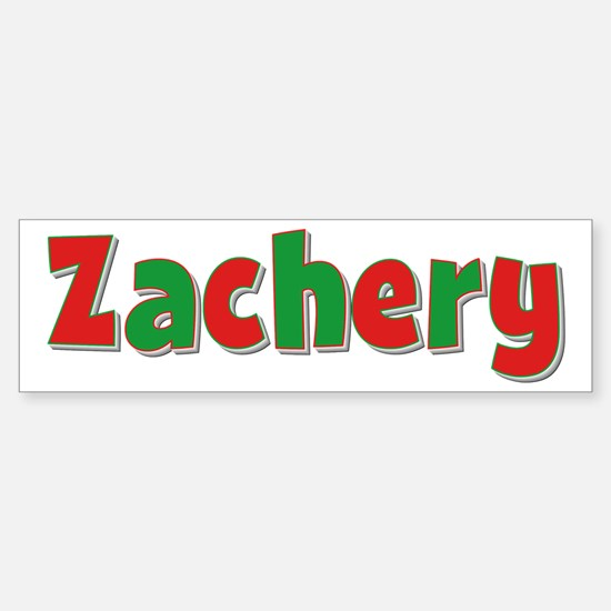 Zachery Christmas Bumper Bumper Bumper Sticker