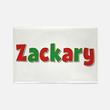 Zackary Christmas Rectangle Magnet