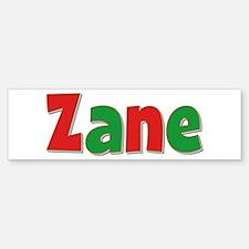 Zane Christmas Bumper Bumper Bumper Sticker
