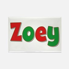 Zoey Christmas Rectangle Magnet