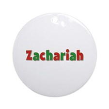 Zachariah Christmas Round Ornament