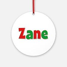 Zane Christmas Round Ornament