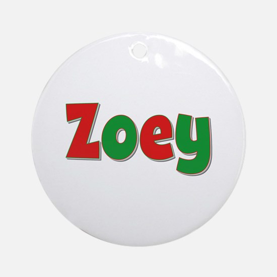 Zoey Christmas Round Ornament