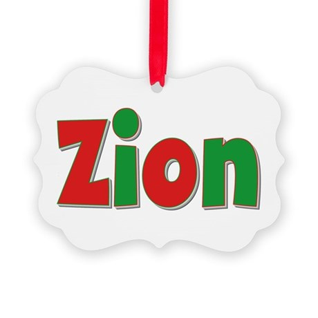 Zion Christmas Picture Ornament