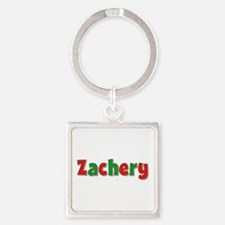 Zachery Christmas Square Keychain