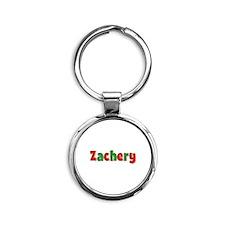 Zachery Christmas Round Keychain