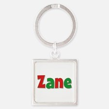 Zane Christmas Square Keychain