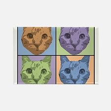 Hubie the cat for Karen Rectangle Magnet