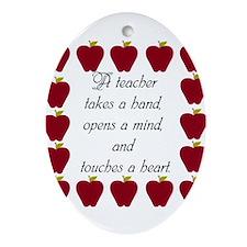 A teacher takes a hand Ornament (Oval)