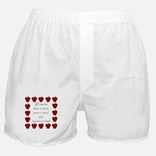 A teacher takes a hand Boxer Shorts