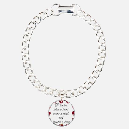 A teacher takes a hand Charm Bracelet, One Charm