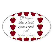 A teacher takes a hand Decal