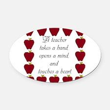 A teacher takes a hand Oval Car Magnet