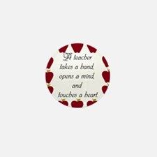 A teacher takes a hand Mini Button (100 pack)
