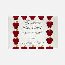 A teacher takes a hand Rectangle Magnet