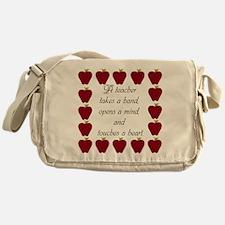 A teacher takes a hand Messenger Bag