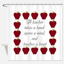A teacher takes a hand Shower Curtain