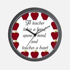 A teacher takes a hand Wall Clock
