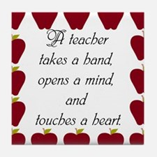 A teacher takes a hand Tile Coaster