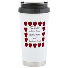 A teacher takes a hand Travel Coffee Mug
