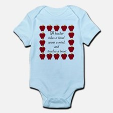 A teacher takes a hand Infant Bodysuit