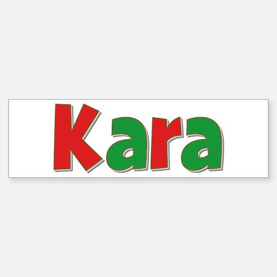 Kara Christmas Bumper Bumper Bumper Sticker