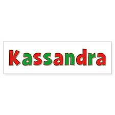 Kassandra Christmas Bumper Car Sticker