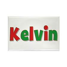 Kelvin Christmas Rectangle Magnet
