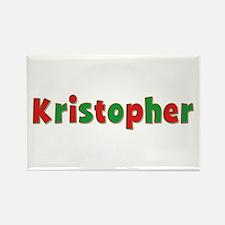 Kristopher Christmas Rectangle Magnet
