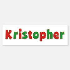 Kristopher Christmas Bumper Bumper Bumper Sticker