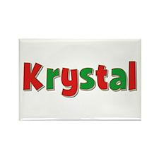 Krystal Christmas Rectangle Magnet