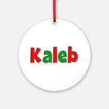 Kaleb Christmas Round Ornament