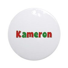Kameron Christmas Round Ornament