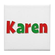 Karen Christmas Tile Coaster