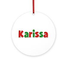 Karissa Christmas Round Ornament