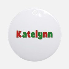 Katelynn Christmas Round Ornament