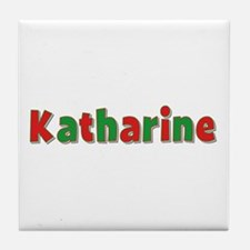 Katharine Christmas Tile Coaster