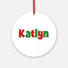 Katlyn Christmas Round Ornament