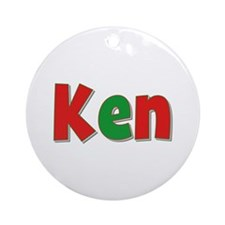Ken Christmas Round Ornament