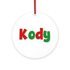 Kody Christmas Round Ornament