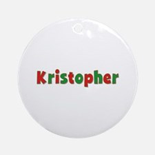Kristopher Christmas Round Ornament