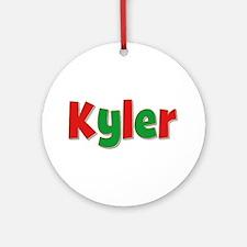 Kyler Christmas Round Ornament